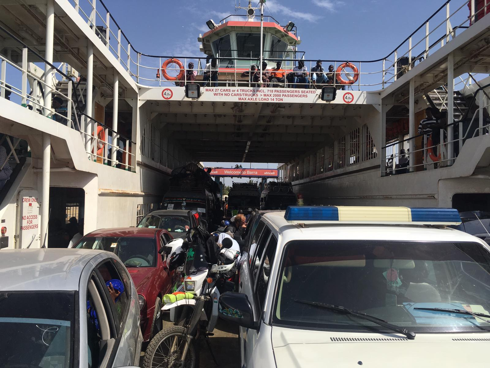 On board the Banjul-Barra ferry, The Gambia.
