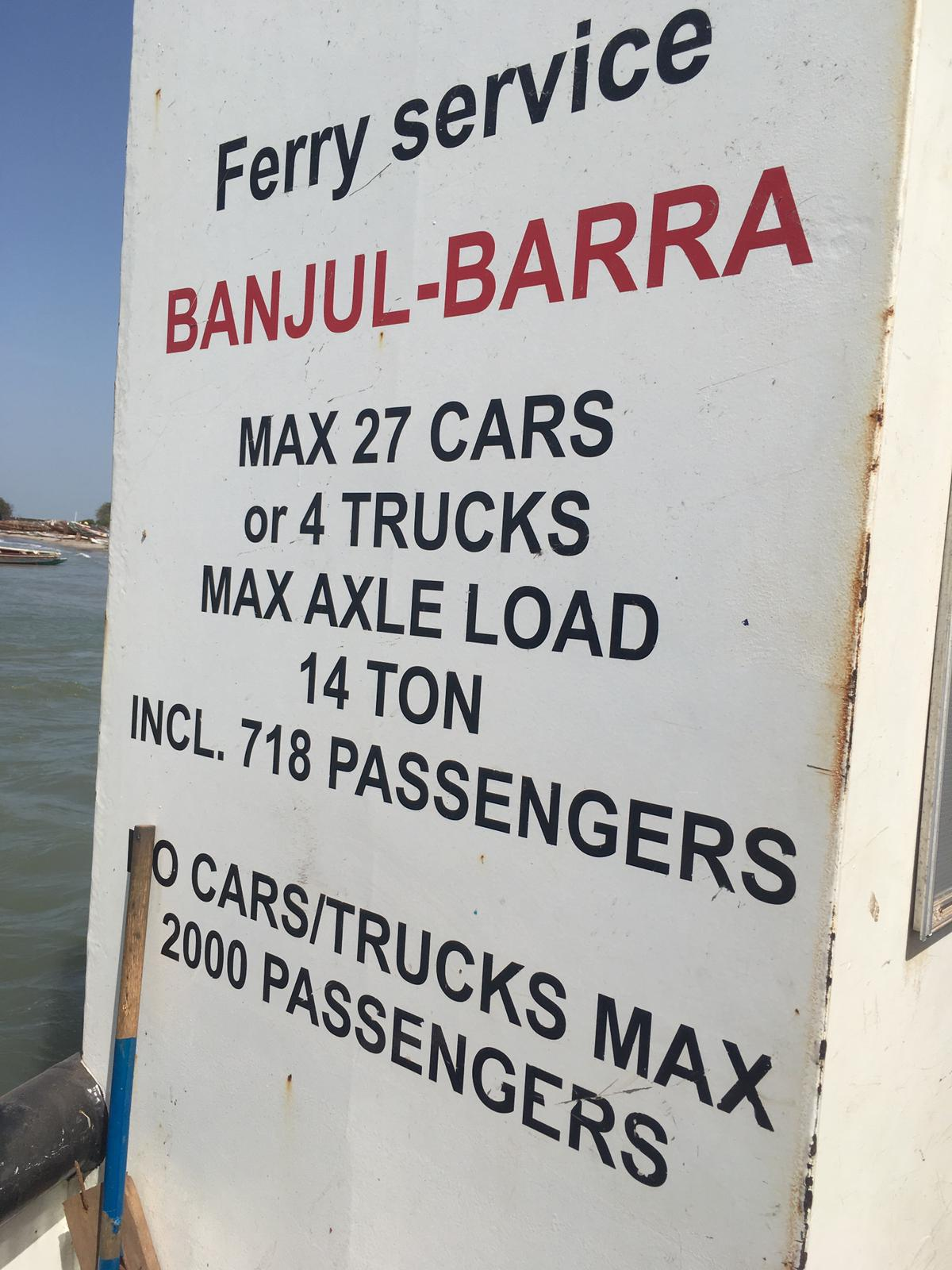 The Banjul-Barra ferry, The Gambia.