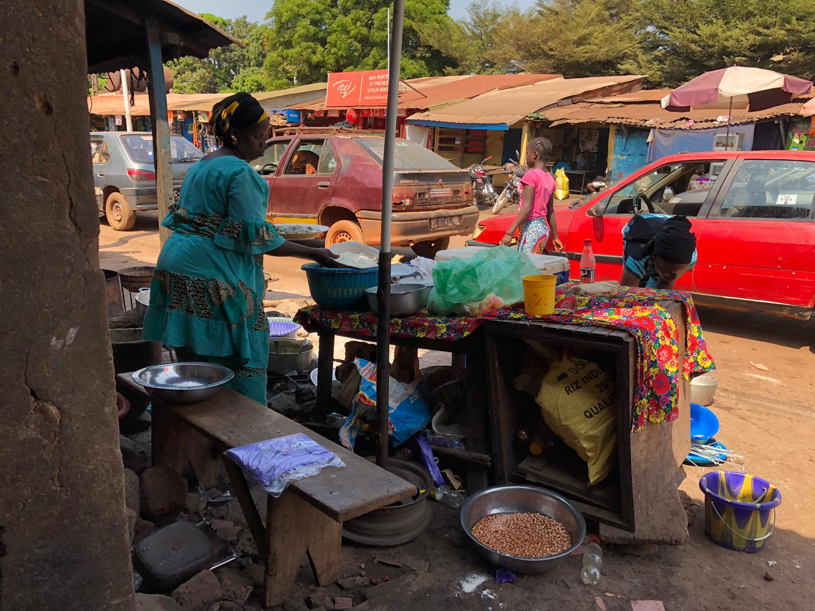 Food being prepared in Boke, Guinea.
