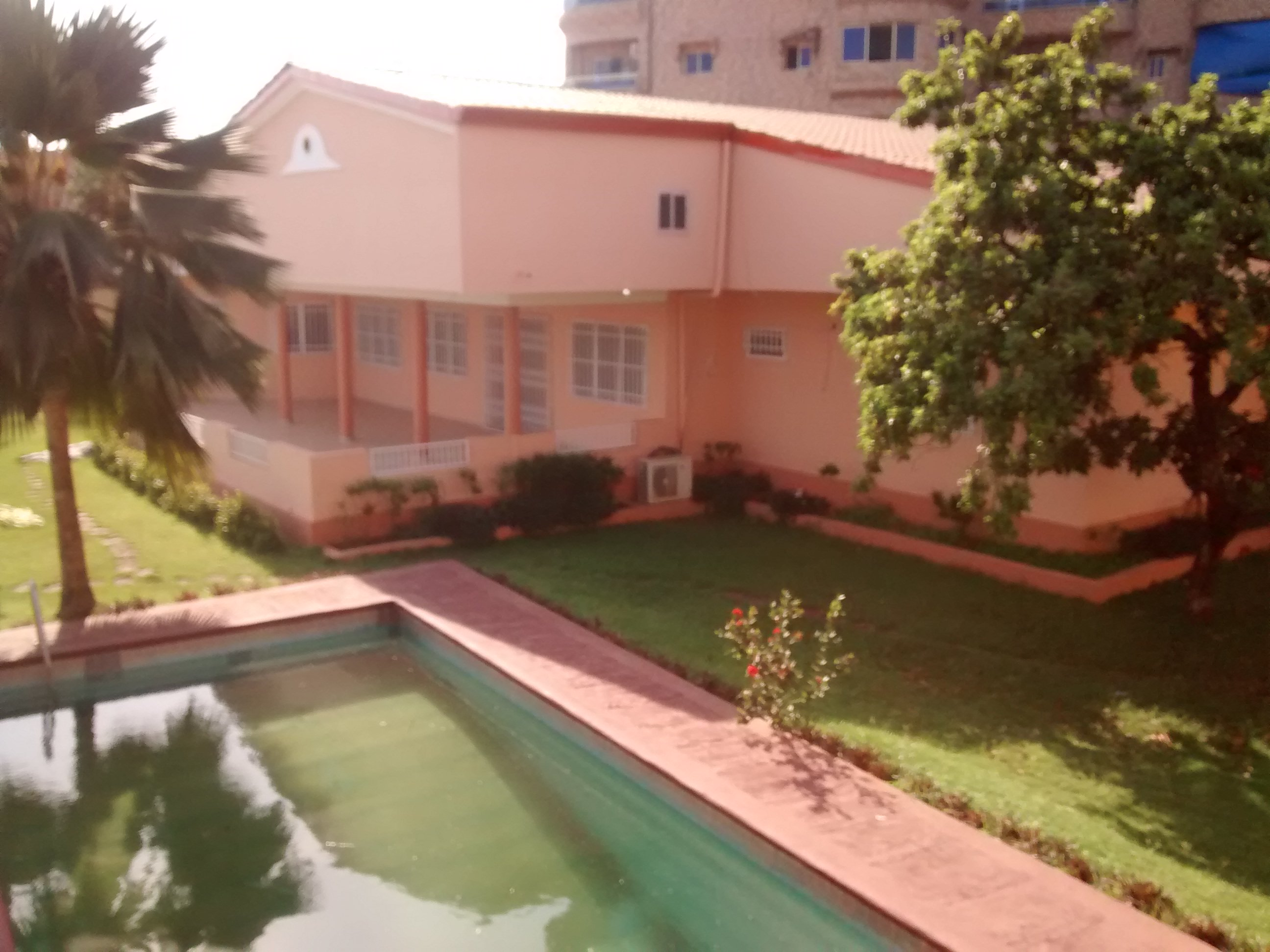 Stayed in newly built 3-bed house before first tenant, Conakry, Guinea.