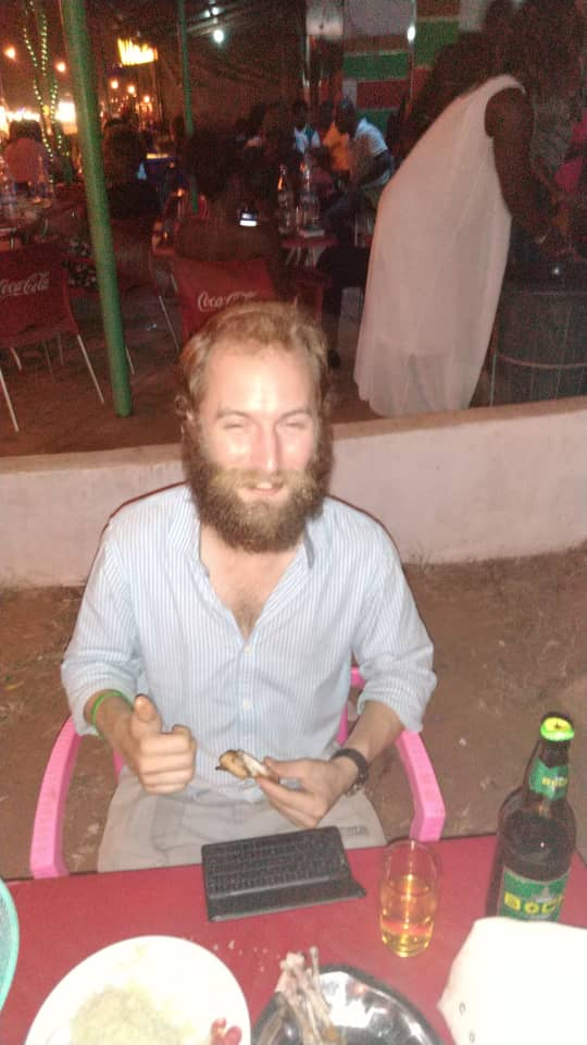 Feeling *whoozy* after some beers with @chloe_kira.creer. Abengourou, Cote d'Ivoire.