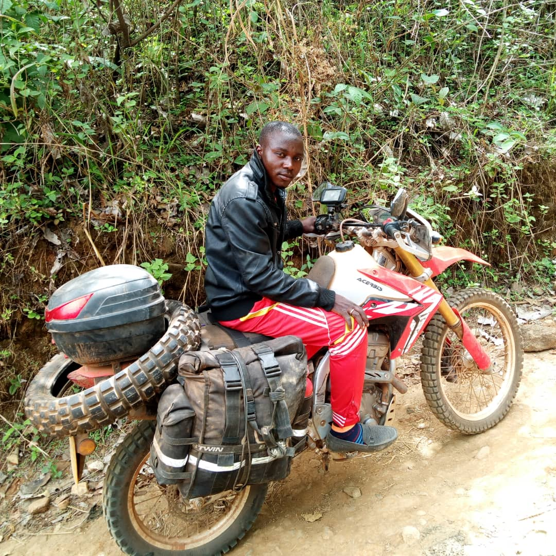 Suleiman, the guy who rode my motorcycle over tricky terrain when I was very fatigued. Nigeria.