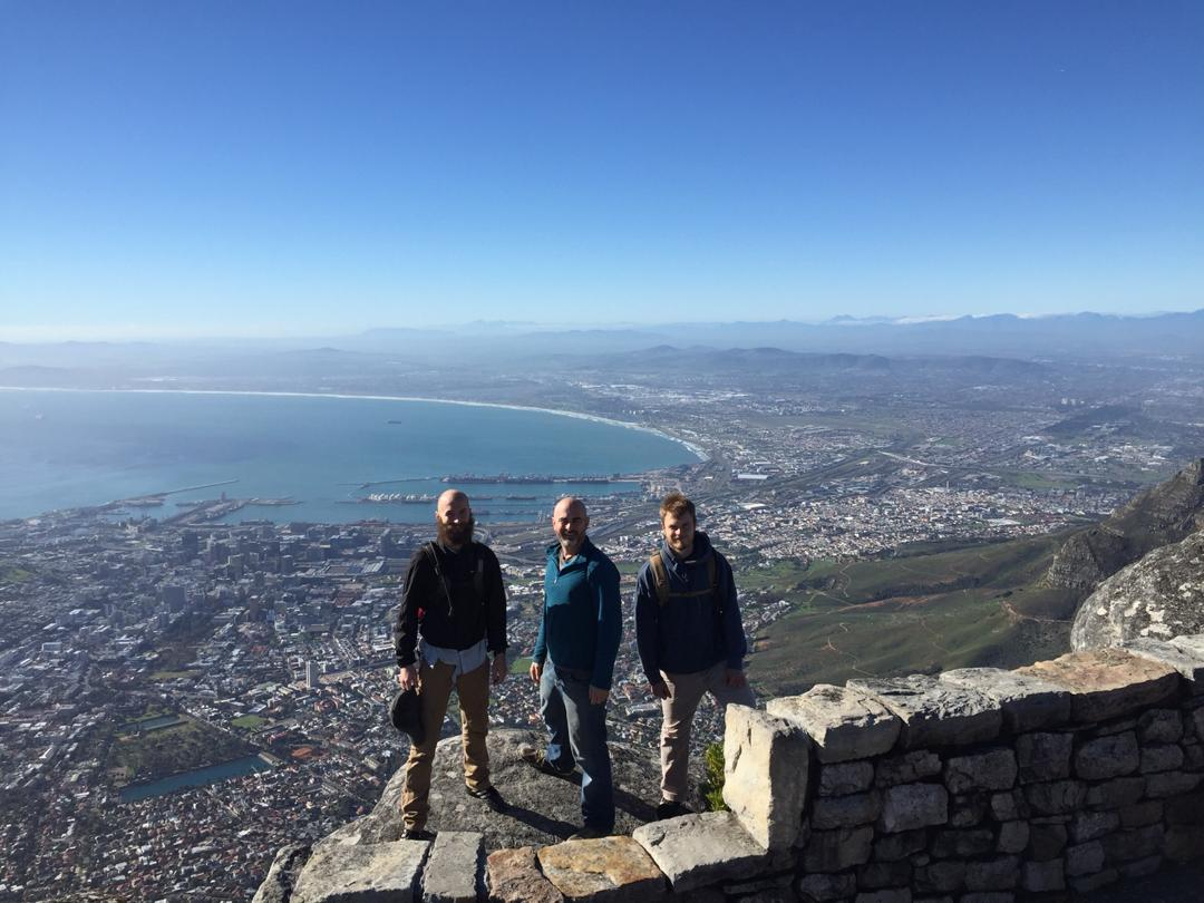 View across Cape Town from Cape Mountain. Cape Town, South Africa.